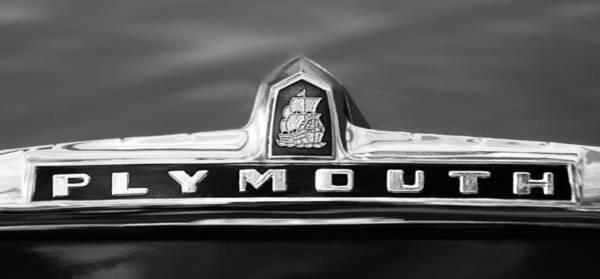 Photograph - 1949 Plymouth P-18 Special Deluxe Convertible Emblem by Jill Reger