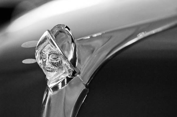 Photograph - 1950 Desoto Custom Sedan Hood Ornament by Jill Reger