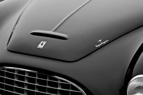 Touring Photograph - 1951 Ferrari 212 Export Touring Berlinetta Hood Emblems by Jill Reger