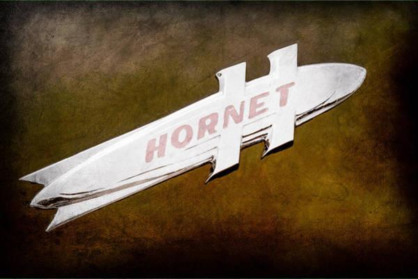 Hornet Photograph - 1951 Hudson Hornet Emblem by Jill Reger