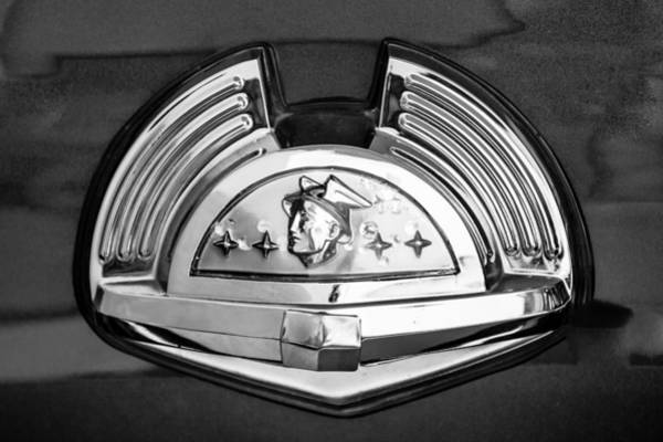 Photograph - 1951 Mercury Emblem by Jill Reger