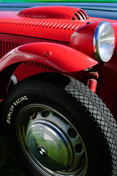 Photograph - 1952 Frazer-nash Le Mans Replica Mkii Competition Model Tire Emblem by Jill Reger