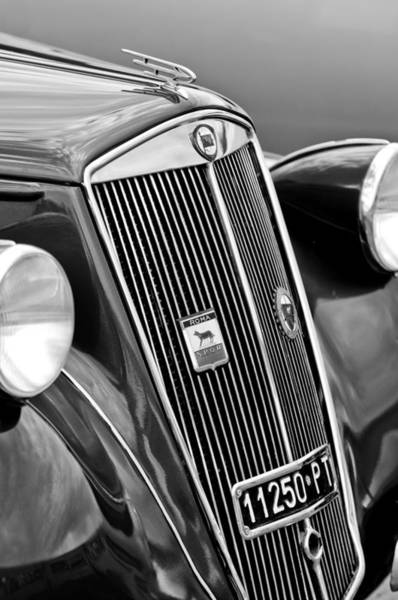 Photograph - 1952 Lancia Ardea 4th Series Berlina Grille Emblems by Jill Reger