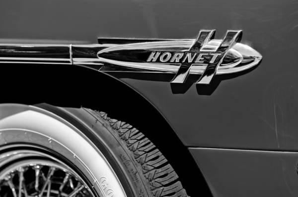1953 Photograph - 1953 Hudson Hornet Emblem by Jill Reger