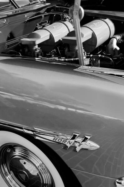 Photograph - 1953 Hudson Hornet Sedan Engine by Jill Reger