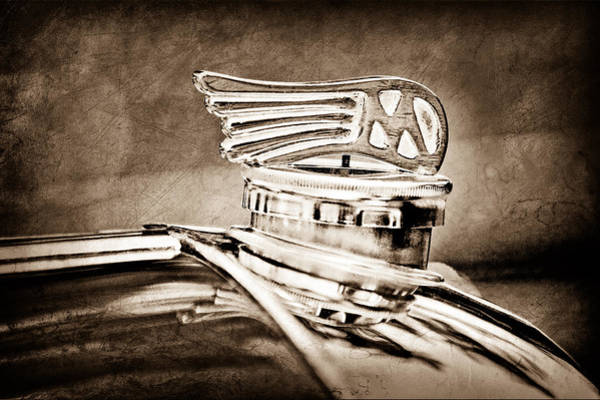 Photograph - 1953 Morgan Plus 4 Le Mans Tt Special Hood Ornament by Jill Reger
