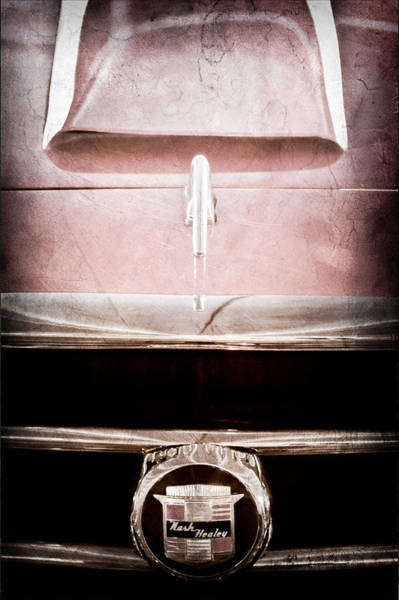 Photograph - 1953 Nash-healey Roadster Grille Emblem by Jill Reger