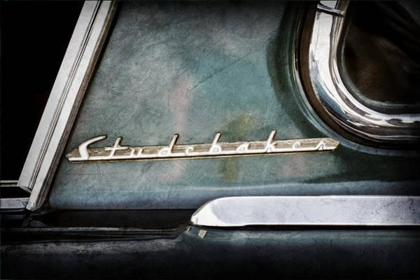 Studebaker Photograph - 1953 Studebaker Champion Starliner Side Emblem by Jill Reger