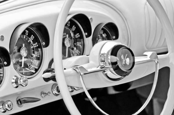 Photograph - 1954 Kaiser Darrin Steering Wheel by Jill Reger