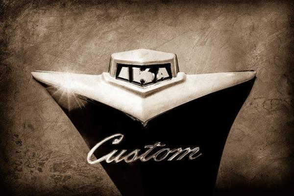 Photograph - 1954 Kaiser Emblem by Jill Reger