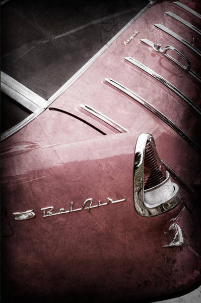 Nomad Photograph - 1955 Chevrolet Nomad Wagon Taillight Emblem by Jill Reger