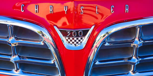 Photograph - 1955 Chrysler C-300 Grille Emblem by Jill Reger