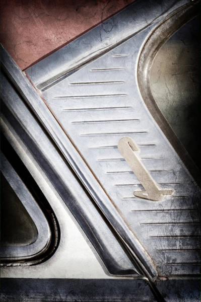Capri Wall Art - Photograph - 1955 Lincoln Capri Emblem by Jill Reger