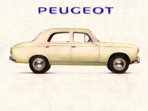 Painting - 1955 Peugeot 403  by Celestial Images