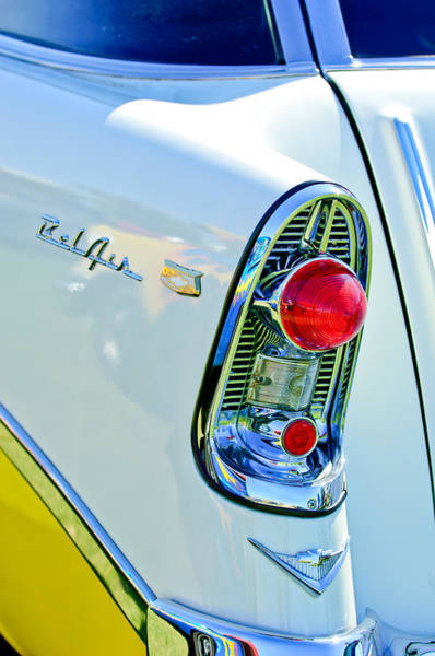 Nomad Photograph - 1956 Chevrolet Belair Nomad Taillight Emblem by Jill Reger