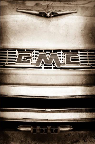 Photograph - 1956 Gmc 100 Deluxe Edition Pickup Truck Emblem by Jill Reger