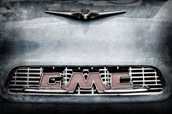 Photograph - 1956 Gmc 100 Deluxe Edition Pickup Truck Hood Ornament - Grille Emblem by Jill Reger