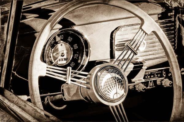 Vw Bug Photograph - 1956 Volkswagen Vw Bug Steering Wheel by Jill Reger