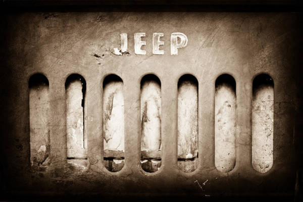 Jeep Wall Art - Photograph - 1957 Jeep Emblem by Jill Reger