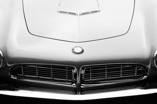 1958 Photograph - 1958 Bmw 507 Series II Roadster Hood Emblem by Jill Reger
