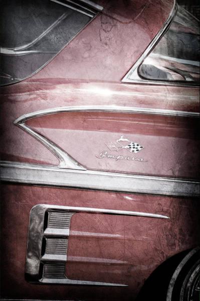 Impala Photograph - 1958 Chevrolet Impala Side Emblem by Jill Reger