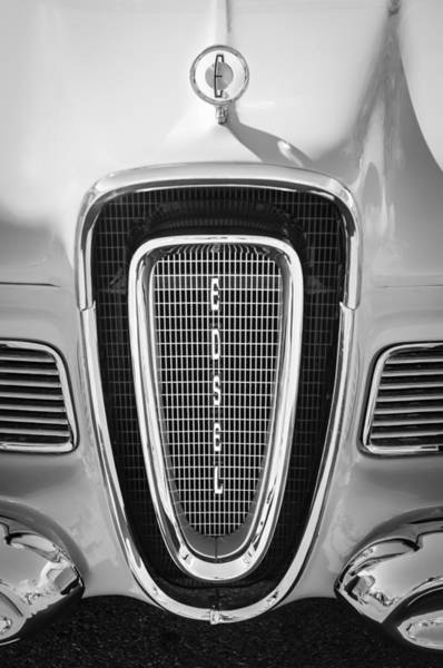 Photograph - 1958 Edsel Pacer Grille Emblem - Hood Ornament by Jill Reger