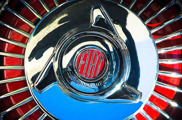Photograph - 1958 Fiat 1200 Tv Sportsman Roadster Wheel by Jill Reger