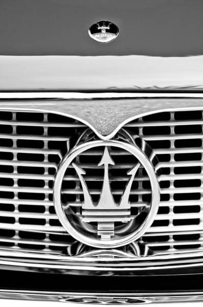 Photograph - 1958 Maserati Hood Emblem by Jill Reger
