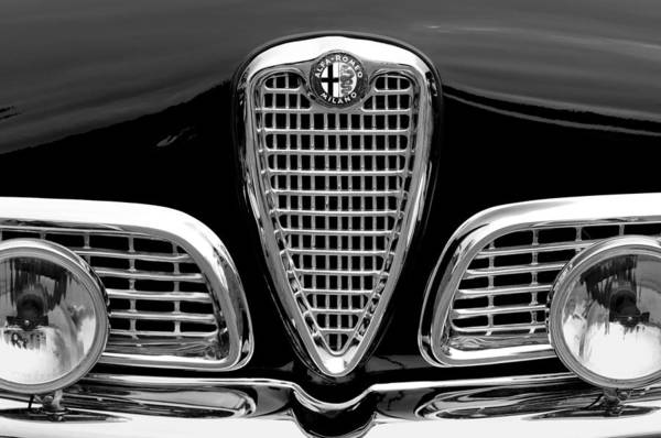 Photograph - 1959 Alfa Romeo Giulietta Sprint Grille by Jill Reger