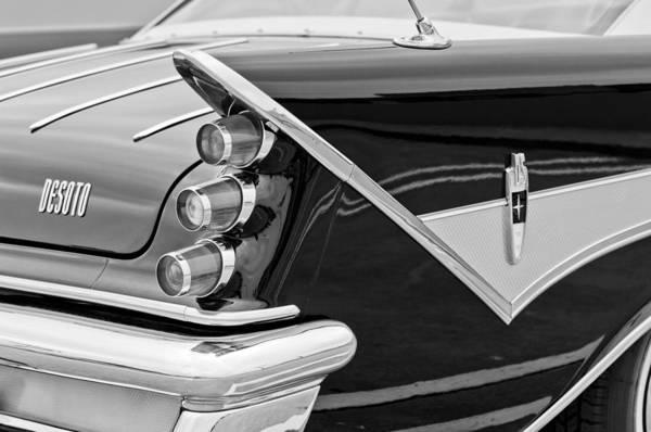 Photograph - 1959 Desoto Adventurer Convertible Tail Light Emblem by Jill Reger
