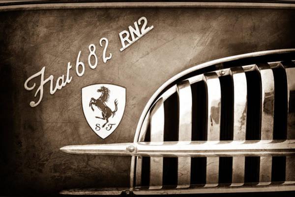 Photograph - 1959 Fiat Tipo 682 Rn-2 Transporter Emblem by Jill Reger