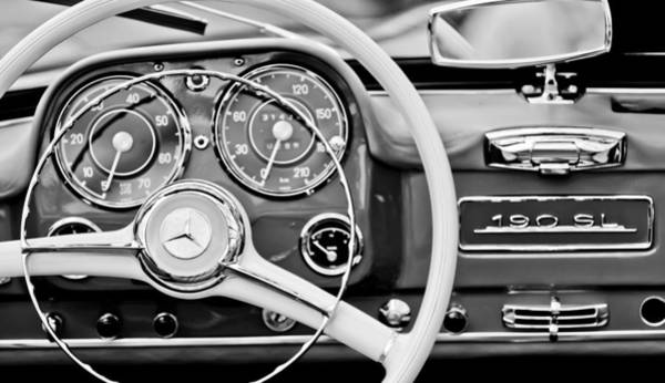 Mercedes Photograph - 1959 Mercedes-benz 190 Sl Steering Wheel by Jill Reger