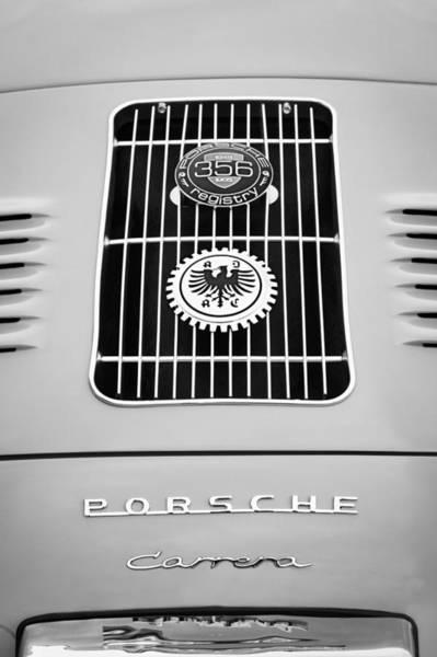 Volkswagen Photograph - 1960 Volkswagen Vw Porsche 356 Carrera Gs Gt Replica Emblem by Jill Reger