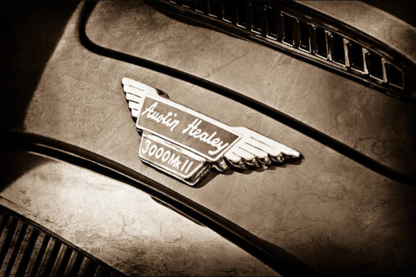 Photograph - 1962 Austin-healey 3000 Mkii Grille Emblem by Jill Reger