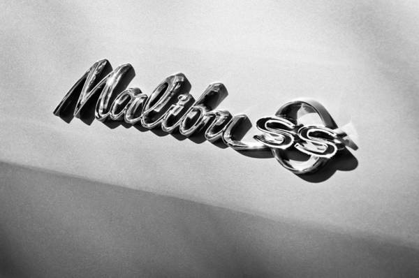 Malibu Photograph - 1964 Chevrolet Malibu Ss Emblem by Jill Reger