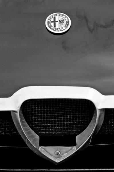 Photograph - 1965 Alfa Romeo Tz 1 Grille Emblem by Jill Reger