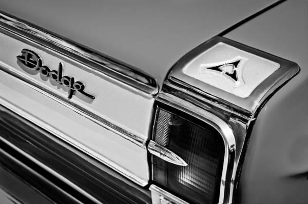 Photograph - 1965 Dodge Coronet 500 Taillight Emblem by Jill Reger