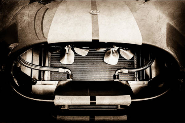 1965 Photograph - 1965 Shelby Cobra Grille by Jill Reger