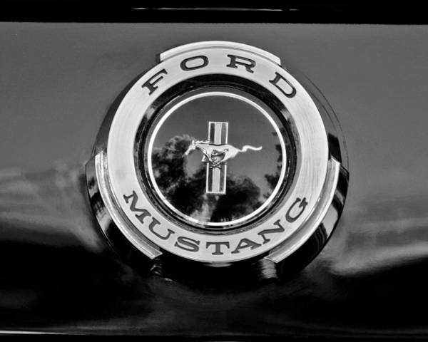 Photograph - 1965 Shelby Prototype Ford Mustang Emblem by Jill Reger