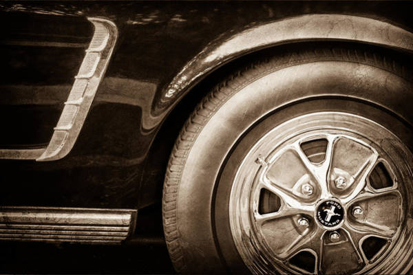 Prototype Photograph - 1965 Shelby Prototype Ford Mustang Wheel by Jill Reger