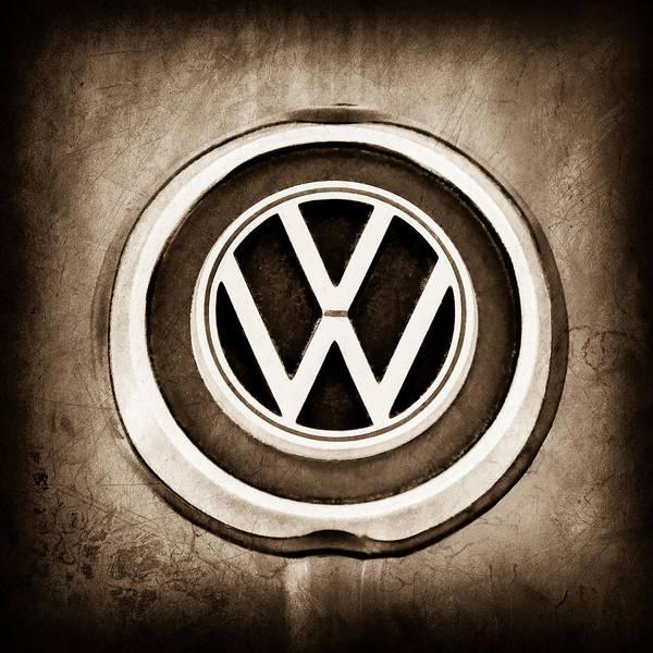 Volkswagen Photograph - 1965 Volkswagen Vw Karmann Ghia Emblem by Jill Reger
