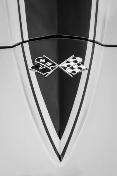 Coupe Photograph - 1967 Chevrolet Corvette Coupe Hood Emblem by Jill Reger