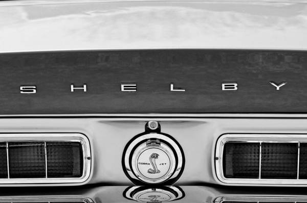 Photograph - 1968 Ford Shelby Gt500 Kr Convertible Rear Emblems by Jill Reger