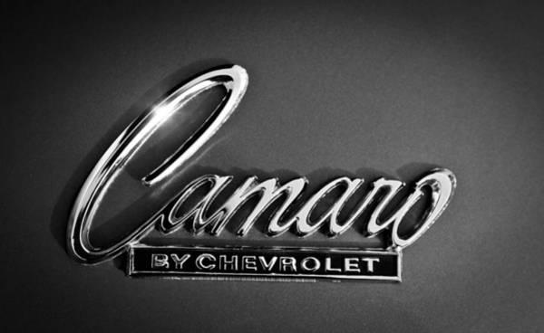 Camaro Wall Art - Photograph - 1969 Chevrolet Camaro Emblem by Jill Reger