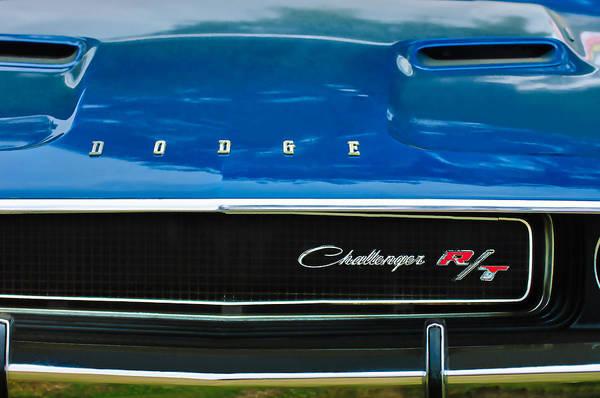 Challenger Wall Art - Photograph - 1970 Dodge Challenger Rt Convertible Grille Emblem by Jill Reger