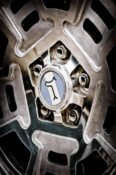 1972 Photograph - 1972 Detomaso Pantera Wheel Emblem by Jill Reger