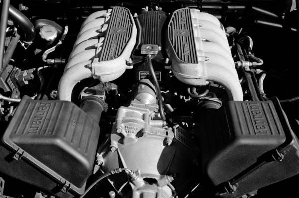 Photograph - 1995 Ferrari Testarossa F512 M Engine by Jill Reger