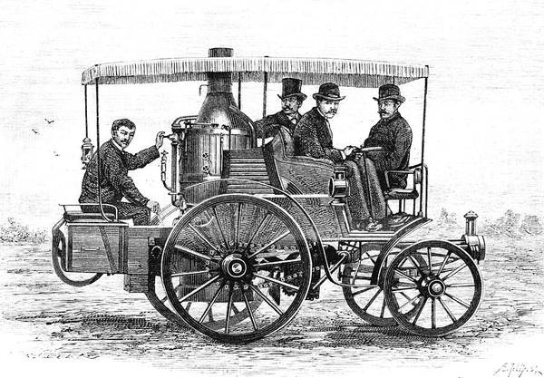 Wall Art - Photograph - 19th Century Steam Car by Collection Abecasis/science Photo Library