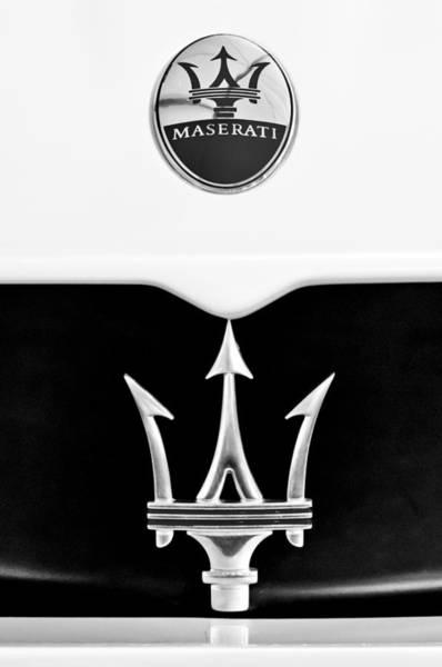 Photograph - 2005 Maserati Mc12 Hood Emblem by Jill Reger