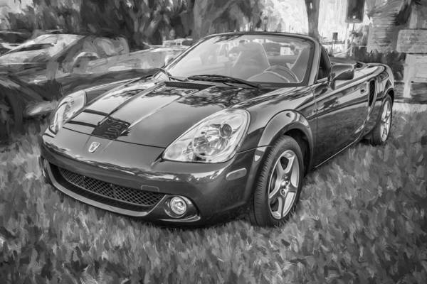 Autosport Wall Art - Photograph - 2005 Toyota Mr2 Sports Car Painted Bw  by Rich Franco